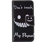 Don't Touch My Phone Pattern Cell Phone Leather For iPhone 6 Plus/6S Plus