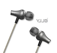 VJJB K1S Enhanced Bass Earphones In-Ear Earphones(3 Different Size Ear Inserts) 3.5mm Plug(with microphone)