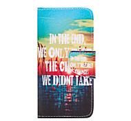 We Don't Take Pattern PU Leather Full Body Cover with Stand for iPhone5/5S