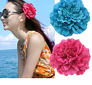 11CM Peony Flower Accessories Bobby Pin Bohemia Seaside Holiday Accessory
