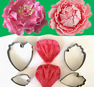 2016 New Arrivel Flower-Making Accessories Stainless Steel Gum Paste Peony Floral Petal Cutter Silicone Veiners Mold