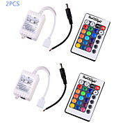 YouOKLight® 2PCS  12V RGB LED Bulb LED Stripe Remote Controller - White