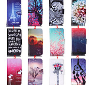 4 Inch Special Pattern PU Wallet Leather Case with Stand for iPod Touch 5(Assorted Colors)