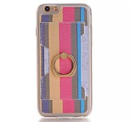 PU Stents Lord of the Rings The Color Stripe Card Mobile phone Case for iPhone 6S/iPhone 6 Assorted Color