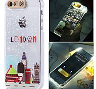 Lodon Torre eiffer cidade luz do flash sentido padrão lcd caso capa Voltar para o iPhone 5 / 5s