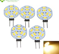 5 x G4 / MR11/ GU4 / GZ4  4.5W  Warm White 450LM Led Light Bulbs (12V AC/DC)