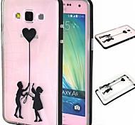 2-em-1 o menino ea menina TPU tampa traseira com amortecedor pc soft case à prova de choque para Samsung Galaxy a5
