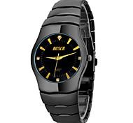 Men's Watch Black Gold Watch Gift Custom Ultra-Thin Tungsten Steel Alloy Wrist Watch Cool Watch Unique Watch