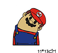 Funny Mario Car Sticker Car Window Wall Decal Car Styling
