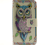 Owl Pattern PU Leather Full Body Cover with Stand for Samsung Galaxy J2/Galaxy J3