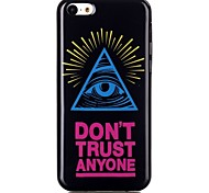 Triangle eye Pattern TPU Phone Case for iPhone 5C