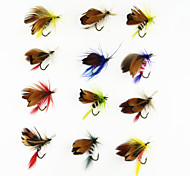 Anmnka 12 pcs/set Butterfly Various Dry Fly Hooks Dry Flies  1g   Fly Fishing
