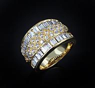 Женский Классические кольца бижутерия Циркон Позолота Бижутерия Назначение Свадьба Для вечеринок Повседневные
