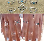European Style Retro Fashion Exaggerated Geometric Triangle Arrow Ring Set