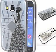 2-in-1 Schmetterling Socken TPU rückseitige Abdeckungs mit PC Stoßfänger stoßfest Hülle für Samsung-Galaxie großartigen neo i9060 / g530h