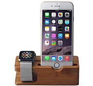 apple iphone Uhr und Multifunktionsladeholzständer iwatch Halter Torhüter drahtlose Ladestation