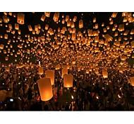 lanternes ballon à air chaud ciel lanterne souhaitant lampe de vol