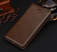 luxo de couro business-grão caso de telefone cavalo cartão magnético louco para iphone 6 6s / iphone (cores sortidas)