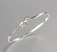 DIY Noble Quality 925 Sterling Silver Bangles Party Daily Bangles For Woman&Lady