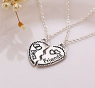 New Arrival Heart Best Friends Pendant Necklace(2pcs/set)