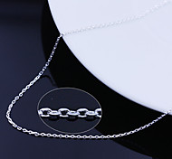 925 Fine Silver Chain Necklace (Length:46cm)