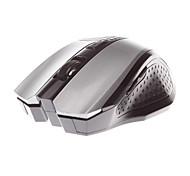 jt3236 MJT mouse senza fili mouse ottico 2.4ghz 1600dpi 5 tasti design argentato