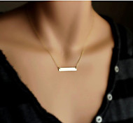 Golden Narrow Strips Tiny  Necklace