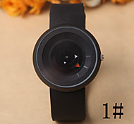 Women's Fashion Watch Quartz Rubber Band Black White