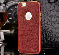 For iPhone 5 Case Shockproof Case Back Cover Case Solid Color Hard Genuine Leather iPhone SE/5s/5