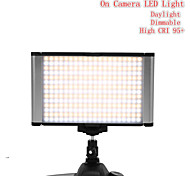 Porfessional Dimmable 160 LED On-camera Light JYLED-160S Bi-Color Daylight & Tungsten Photography Studio Video Light