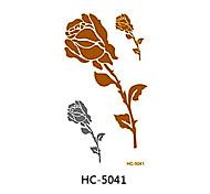 Séries Flores / Outros - oem - Tatuagem Adesiva - Non Toxic / Tribal / Waterproof / Metálico - paraBebê / Criança / Feminino / Girl /