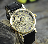 Men's New Fashion Business Casual Golden Hollow Wrist Watch