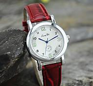Ladies' European style Embossed Leather Casual watch