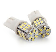 2 * T10 30 LED 3014 SMD White Car Wedge Side License Plate Light Bulb Lamp