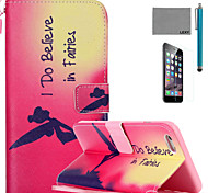 LEXY® Fairies Pattern PU Full Body Leather Case with Screen Protector and Stylus for iPhone 6/6S