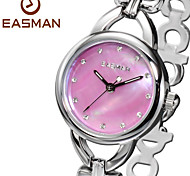 EASMAN Brands Ladies Watches Heart Shape Steel Bracelet Band Pink Mother of Pearl Fashion Wrist Watch Womens Watches