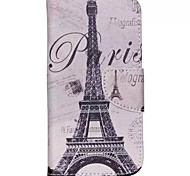 Iron Tower Painted PU Phone Case for Galaxy J5