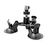8 Inch 3-Suction Car Cup Mount Holder for GoPro Hero 4 / 3+/XIAOMI YI/SJ4000