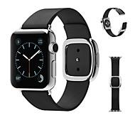 moderne Schnalle echtes Leder-Bandbügel Armband Armband mit Adapter Verschluss Ersatz für apple iwahtch