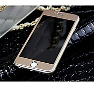 Titanium alloy Full Cover Arc Tempered Glass Screen Protector film (front and back) (Rose Gold) for iPhone6 plus