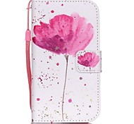 The New  Poppies Lanyard PU Leather Material Flip Card Cell Phone Case for Samsung Galaxy G530/G360