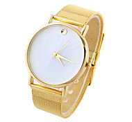reloj de cuarzo de punto de oro femenina con correa de red de acero