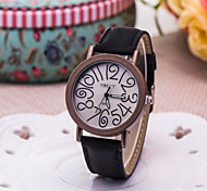 Women's Fashion Watch Hot New Twist Digital Quartz Watch PU Strap(Assorted Colors)