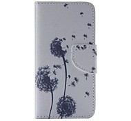 Small Dandelion Pattern Cell Phone Leather For iPhone 6/6S