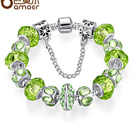 The new glass bead green natural series of DIY bracelet