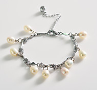 Fashion Drill Pearl  Water Drop  Silvering Bracelet