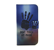 Don't Touch My Phone PU Leather Full Body Case with Stand for iPhone 5/5S