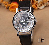 Miss Han Bannan Watch Double-Sided Hollow Mechanical Watches Student Casual Non-Leather Belt Quartz Watch