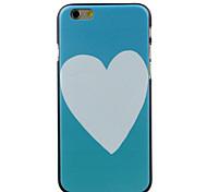 branco coração alta qualidade e bom estojo rígido padrão de preço para iphone 6 / 6s