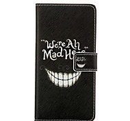 Smiling Face Leather Wallet for Huawei P8 P8 Lite